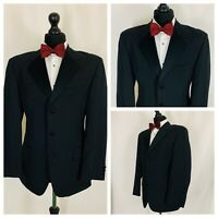 "Mens Tuxedo Dinner Evening Suit Jacket Black Formal Cruise Prom Chest  34"" - 68"""