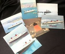 "CGT FRENCH LINE SS ""FRANCE"" Color Postcard Lot 1"