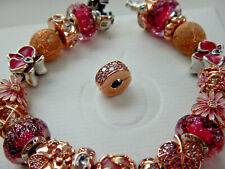 AUTHENTIC Pandora ROSE COLLECTION Shining Elegance Cllip/Fixed Charm. #781817cz