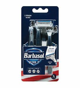 Barbasol Ultra 3 Premium Disposable Razor, 4 Count new in box