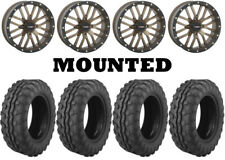Kit 4 Moose 8-Ball Tires 26x9-14 on System 3 ST-3 Bronze Wheels IRS