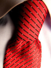 Men's Basic Editions Red Striped Polyester Skinny Tie A28581