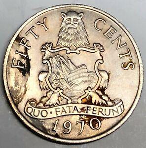 # C7353   BERMUDA    COIN,     50  CENTS   1970