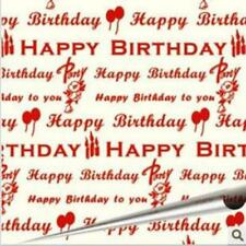 Happy Birthday Red Chocolate Transfer Sheet