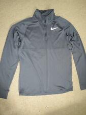 Super Nike Running dri-fit gray zip-neck pullover - adult / mens / womens M
