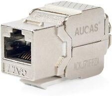 Aucus - RJ45 Trapezoid Cat7  FTP Module 10G Network Jack Connector H1 (10-pack)