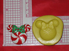 Minnie Mouse Peppermint Silicone Mold A562 Cake Chocolate Resin Clay