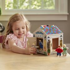 Melissa and Doug - Wooden Doorbell House - Imaginary Play for Kids
