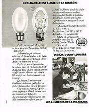 PUBLICITE ADVERTISING 064  1978  MAZDA   OPALIA  l'oeuf lumière 2