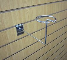 CHROME MILLINERY ARM FOR SLATWALL BOX 50