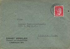 LIMBACH, Briefumschlag 1943, Ernst Winkler Trikotagen-Trikot-Stoff-Fabrik