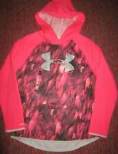 Under Armour GirlsYouth Large Power in Pink Pullover Hoodie; New