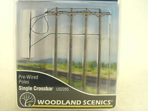 Strommaste mit Leitungen    - Woodland HO  - 1:87  Zubehör US2265  #E