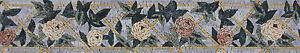 Rose Floral Border Frame Design Handmade Art Tile Stone Marble Mosaic