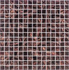 Glasmosaik Fliesen dunkelbraun Wand Dusche Fliesenspiegel     1 Matte   ES-65547