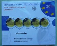 Deutschland Off. Blister 2-Euro-Gedenkmünzenset 2019 Bundesrat coins Proof PP