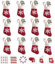 + set da 6 CALZINI PORTA posate natalizie  rosse con fiocco di neve