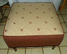 Chicken & Rooster Print Footstool / Stool / Ottoman  (ST175)