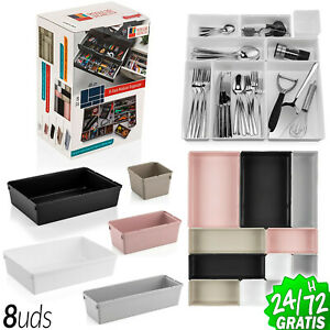 Organiser Modular 5 To 8 Boxes PVC Several Sizes Kitchen Tools Office