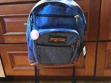 Jansport Denim Look COOL STUDENT Blue Heathered TWILL Laptop School Bag Backpack