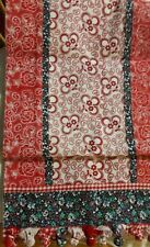 "Table Runner Floral Red White Blue 72""x14"" New"