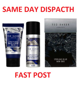 Ted Baker Sterling Blue Mini Duo Mens Gift Set - Fast Dispatch - NEW EDITION