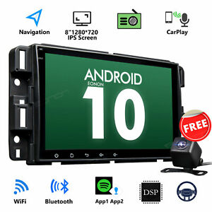 """CAM+8"""" Android 10 IPS Screen Radio CarPlay GPS DSP For Chevrolet Tahoe 2007-2014"""
