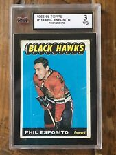 1965-66 Topps Hockey - Phil Esposito #116 Chicago Blackhawks RC - Graded KSA 3