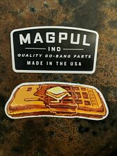 RARE Magpul Waffle & Logo Tactical Set of 2 Decals Stickers