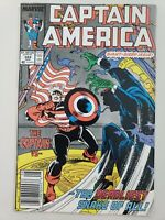 CAPTAIN AMERICA #344 (1988) MARVEL CAPTAIN vs RONALD REAGAN! NEWSSTAND VARIANT!
