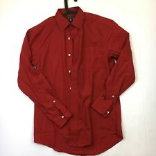 GEORGE Men's Red Plain Long Sleeve Shirt Size Small