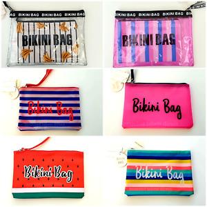BIKINI BAG PRIMARK WOMEN'S LADIES WET SWIMWEAR BEACH STORAGE BAG BEACH HOLIDAY