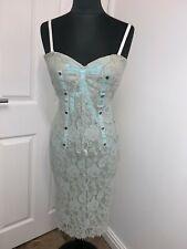 Dolce and Gabbana D&G floral Sicilian lace corset bustier dress UK6-8EU32-34US4