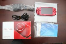 PlayStation Portable PSP-3000 Radiant Red Console very good boxed Japan system