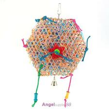 Bell Six Angle Wooden Swing Parrot Bird Toys Bird Cage Accessories