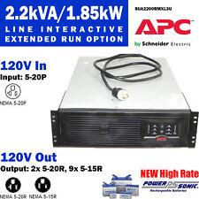 APC SUA2200RMXL3U Smart-UPS XL 2200VA 3U 120V New PowerSonic Batt FREE Shipping