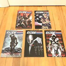 2009 Set IDW G.I. Joes TPB Lot GI Joe Volume 1-5 Graphic Novel Books