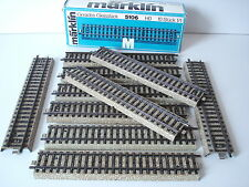 BOITE 10 RAILS DROITS MARKLIN - VOIE M - N° 5106 - ECHELLE H0