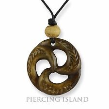 Maori Amulett Anhänger Bone Knochen Handarbeit Design PB368