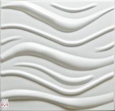 3D Wandpaneele Wandverkleidung Deckenpaneele Platten Paneele WAVE Polystyrol XPS