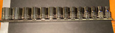 14 Pc NEW Craftsman Made In USA 9 To 22 Metric MM 1/2 Dr 6 Pt socket set Lot NOS