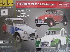 Citroen 2CV Ente Oldtimer Auto  1:24 *NEU*  Heller Plastikbausatz