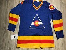 Vintage COLORADO ROCKIES Original Good Sports Jersey NHL HOCKEY Adult Small VTG
