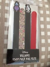 Primark - Disney Villains Four Pack Nail Files Set - BNWT - Cruella - Ursula