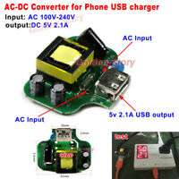 Mini AC-DC Converter 110V 220V 230V to 5V 2.1A DIY Pad Phone USB Charger Module