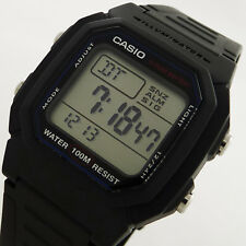 Casio LED Mens Digital W-800H-1AVES  Black Timepiece Gents Boys