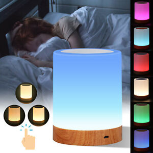 Rechargeable Warm White Night Light Nightlight Bedside Table Touch LED Lamp UK