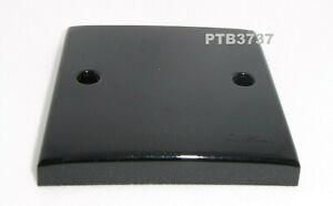 SINGLE BLANK PLATE IN BLACK PLATE BY CLIPSAL. PLASTIC. 1 GANG BLANK PLATE