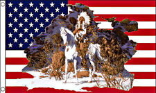 Usa Indian Horse Flag 3x5 (Free Shipping)
