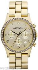 NEW MARC JACOBS MBM3105 LADIES GOLD GLITZ WATCH - 2 YEAR WARRANTY